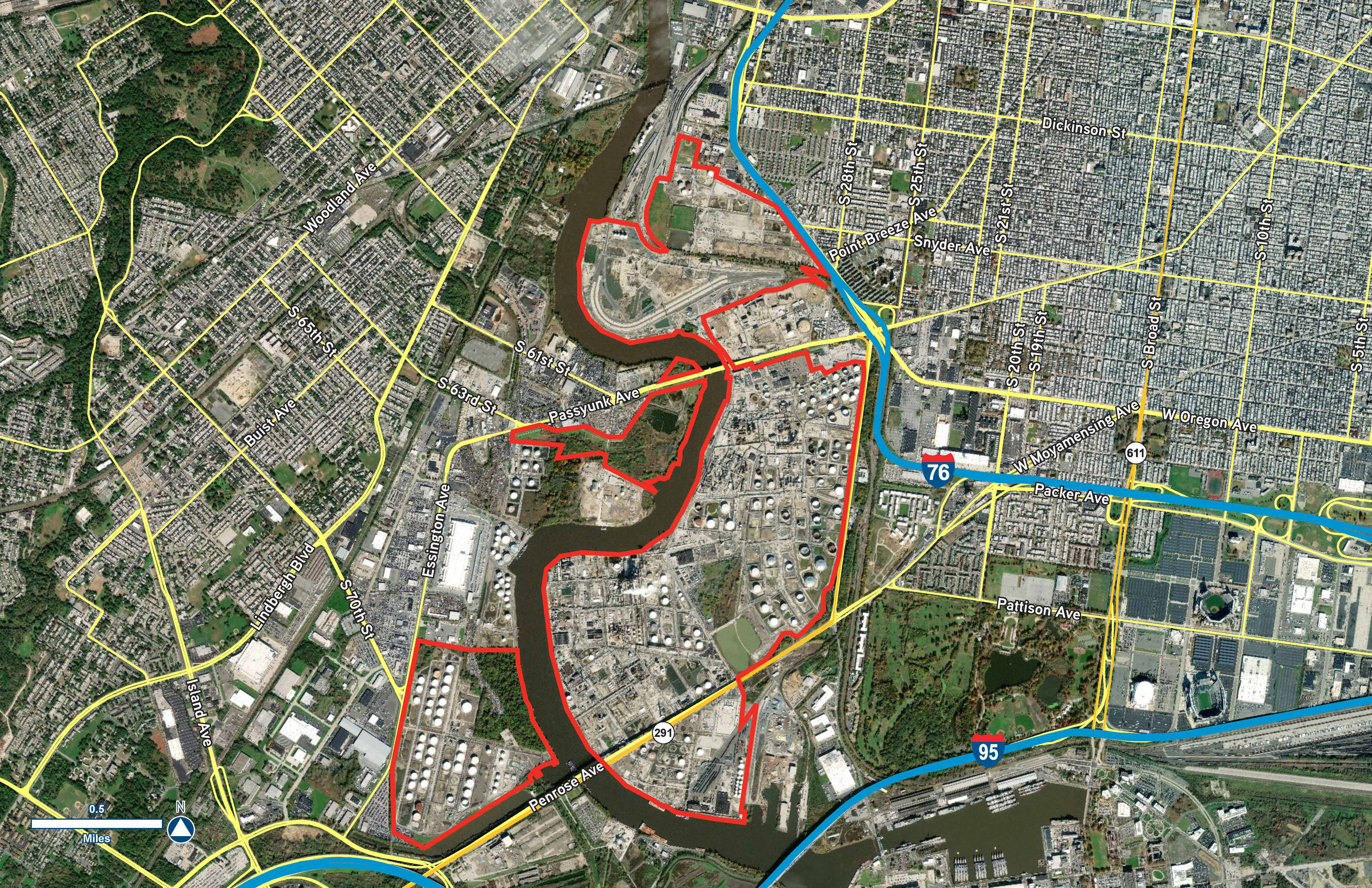 Parcel Study Philadelphia Energy Solutions aerial 1 V2 combined parcels Rich Gorodesky clean